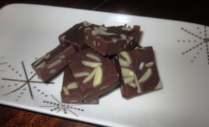 Choc almond fudge