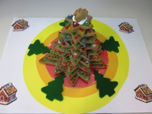My team's gingerbread Christmas tree
