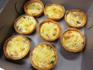 Mini quiches made in class