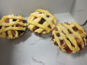 Apple and berry tarts from class