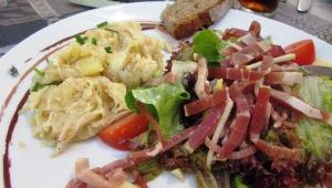 Truffade with salad
