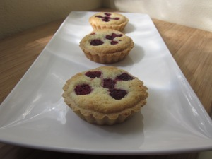 Almond and raspberry tarts