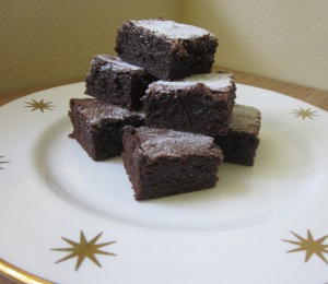 choc gingerbread brownies