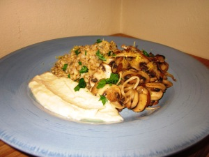 pearl barley and mushrooms 2