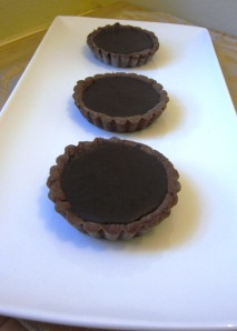 choc orange ganache tarts