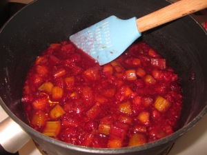 Cooking the compote