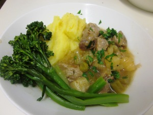 Pork cider and parsnip casserole